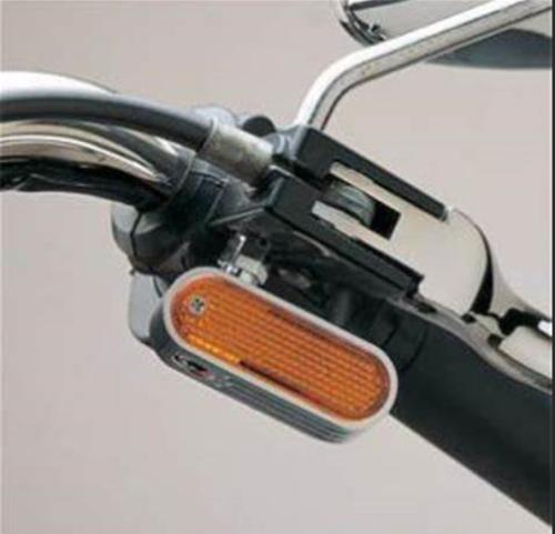 Rick Doss Black Indicator Marker Light 1pr for Harley Davidson Custom Bobbe