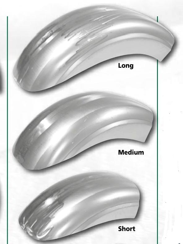 Rear STEEL Fenders from 220mm to 280mm wide in Short - Medium - Long