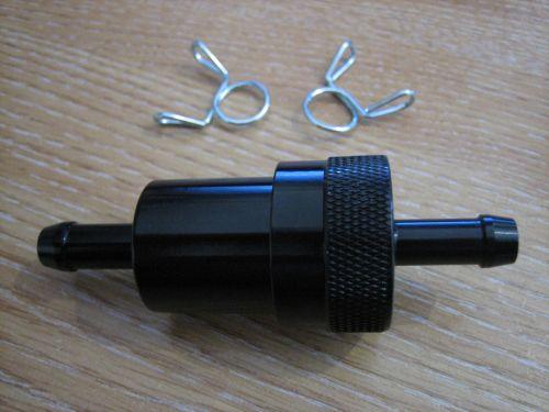 Black Aluminum Fuel Filter 5/16 with Screen