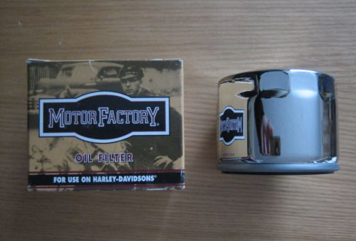 Short Chrome Oil Filter Fits Sportster models 80-early-84 and 4 speed Big T