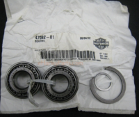 Swingarm Taper Bearings OEM ORIGINAL HARLEY PART 47082-81  WITH SIZED center ring spacer Sportsters 82up