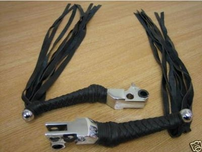 Kurakyn levers wth Black BRAID & Fringe for Harley Davidson