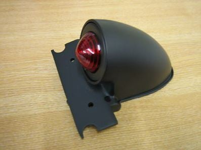 Sparto Matt Black Tail Light Harley / Bobber / Chopper / Trike / Cafe Racer