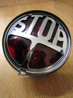 STOP..classic Tail Light Harley Davidson / Bobber / Chopper / Cafe Racer ..