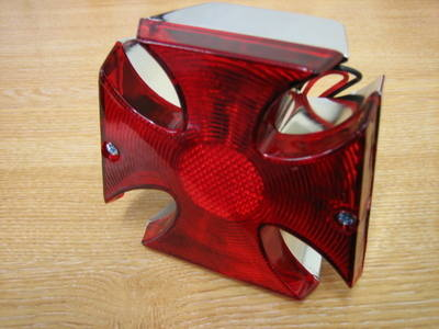 Maltese Cross Tail Light Harley Chop Bobber Trike Cycle Haven