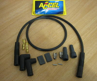 Accel 300+ Universal 2 Plug Wire kit ..Points or Electronic -  Fits Harley