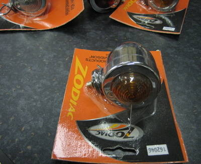 Chrome Bullet Marker Light with Amber Lens - Cycle Haven Fits Harley Custom