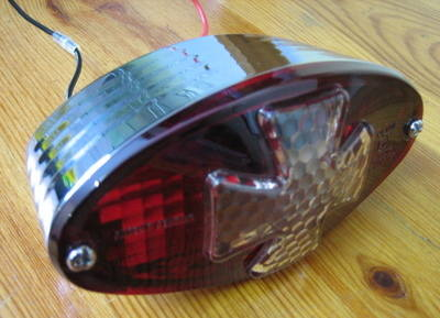 Cat eye IRON CROSS taillight Harley Chopper Bobber Trike