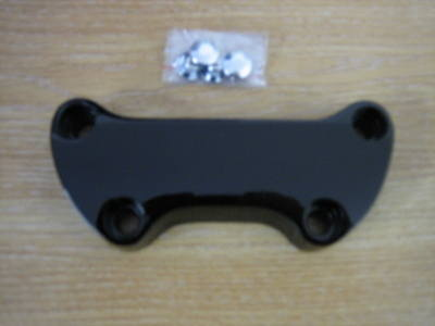 Handle Bar Top Clamp Black Fit Harley Davidson Models