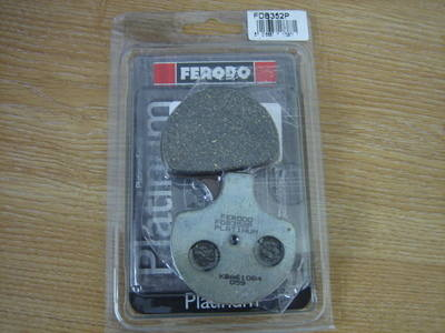 Disc pads FERODO Fits 84-99 Harley Davidson FDB352P Cycle Haven
