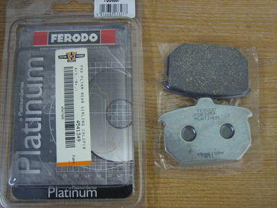 Disc pads Rear FERODO for Harley Davidson 82-E87 models FDB335P Cycle Haven