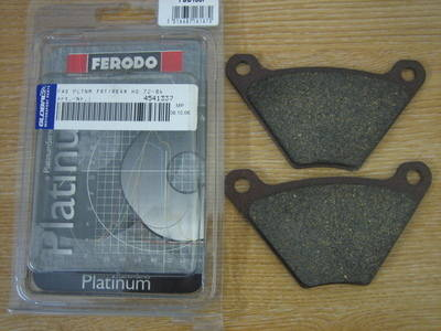 Disc pads for Harley Davidson Banana Cailper FERODO FDB185P Cycle Haven