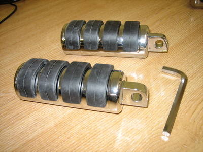 Foot Pegs Large Male Mount Fits Harley Davidson cycle haven