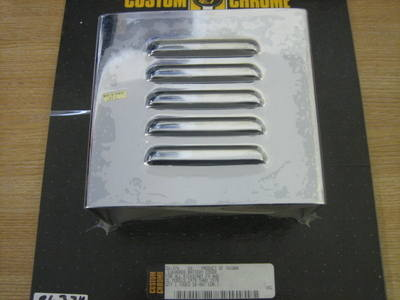 Louvered Battery Cover Chrome For Harley Sportster & FX Models Cycle Haven