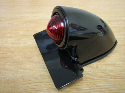 Sparto Gloss Black Tail Light Harley Bobber Chopper Trike cycle haven