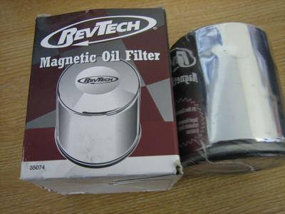 Rev-Tech Chrome Oil Filter Fit Harley Davidson Twim Cam