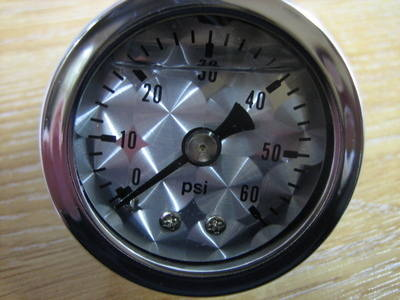 Oil Pressure Gauge 60 lb Engine Turned Face Cycle Haven