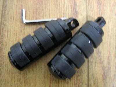 Foot Pegs Black Large Male Mount Fits Harley Davidson cycle haven