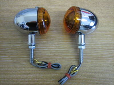 Bullet Round Indicator Light. Fits Harley. Custom, Bobber, Cafe Racer, Trik