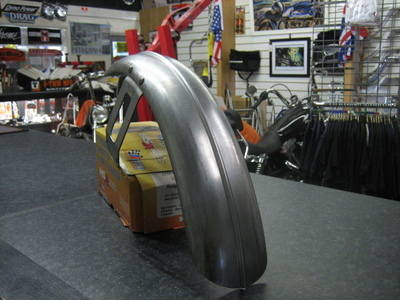 Ribbed Front Fender Wide Glide