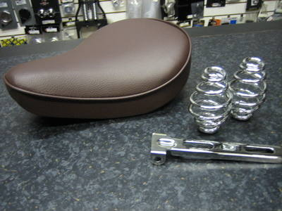 Brown Solo Seat With Chrome Seat Bracket & 4