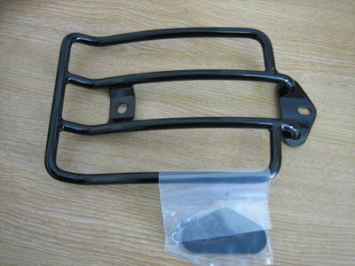 Black Solo Luggage Rack fits Sportster 04-13 Harley Davidson ...Cycle Haven