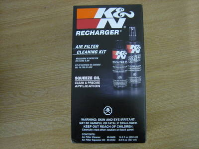 K & N Recharge Kit. Completely Restores Air Flow Efficiency