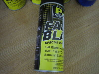 PJ1 Flat Black High Temp Exhaust Paint 1500' 11oz