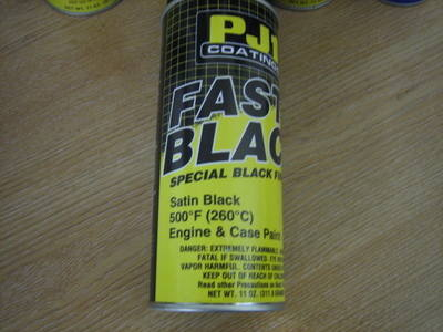 PJ1 Satin Black Engine & Case Paint 500`F  11oz