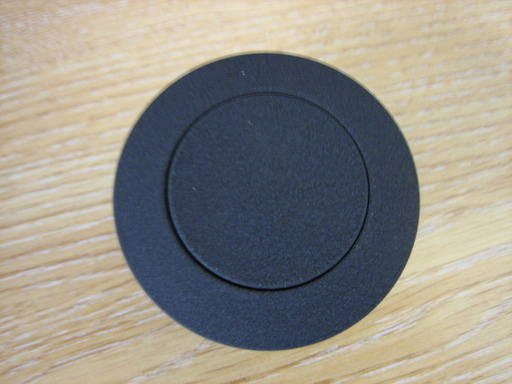 black wrinkle gas cap