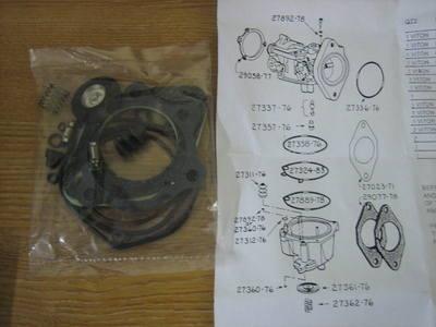 Deluxe VITON Carburetor Rebuild Kit Fits Carbs 76-89 ( except CV ) Harley D