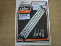 Colony Aluminum Adj Push Rod Solid Conversion Kit Fit 53-65 PanHead Harley