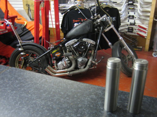 Fork Tube Extensions available from stock for Chopper Bobber or Custom Harl