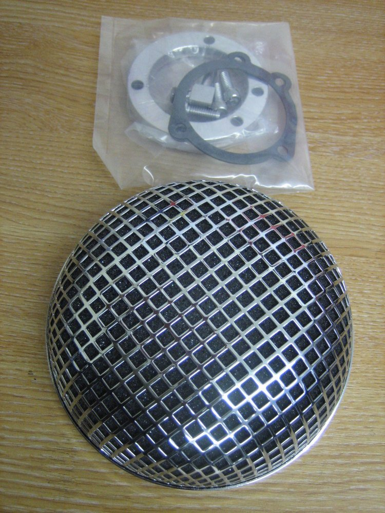 Round Screen Air Filter Fits CV Carb 90-09 Harley Davidson