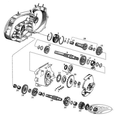 ANDREWS 17 Tooth Low gear countershaft 73-84 OEM#35760