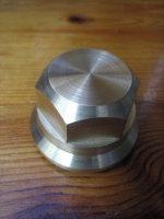 Springer Fork Brass HEXAGONAL Flat Top Nut fits 1