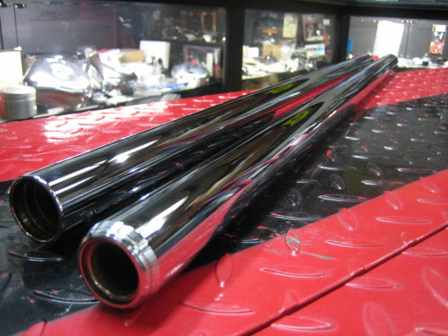 XV750 Overstock Fork Tubes.... from our shop stock for Chopper Bobber Metri