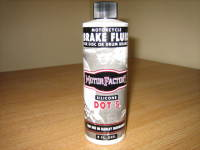 Dot 5 Brake Fluid 8oz Bottle. will not damage painted or powder coat surfaces