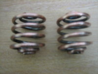 "2"" Copper Finish Seat Springs 1pr cycle haven"