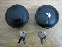 Black Locking Gas Cap Set Screw in with Keys Fits 84-95/E96 Harley Davidson Gas Tanks