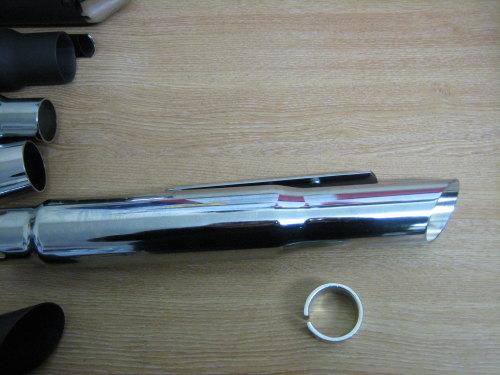 Chrome Slash Cut Silencer Universal Fits Harley Bobber Custom