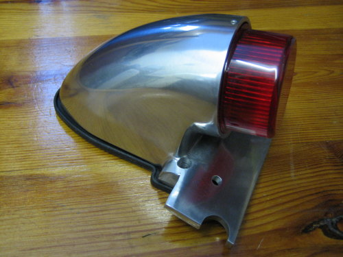 Sparto Tail Light Polished Alloy Extended Lens Harley Bobber