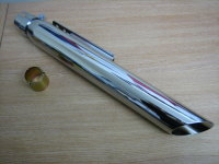 Chrome Slash Cut Muffler 19