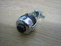 Horn Button Chrome & Black Clamps to 7/8