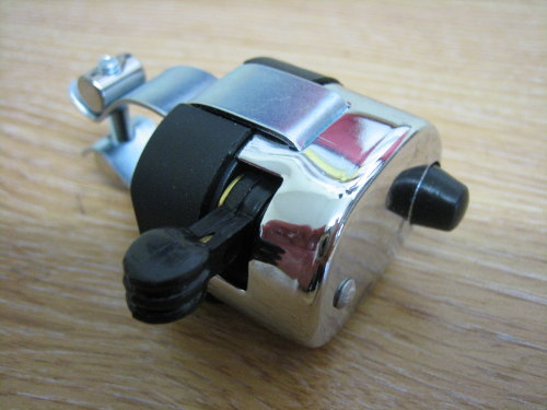 Horn Dip Switch Chrome & Black Clamps to 7/8