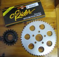 # Sportster 91-99 Models : 21 Tooth 91up Transmission & 73 to 99 48T rear wheel Sprocket & * CC Rider * Chain conversion for Harley Davidson