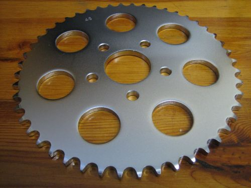 48 Tooth FLAT Sprocket for rear wheel use on SPORTSTER FXR DYNA SOFTAIL Har