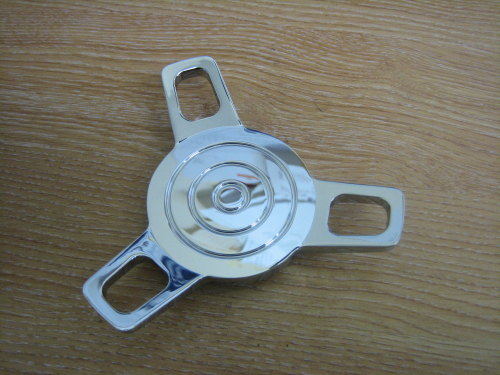 Chrome Spinner Gas Cap Cam Lock Style fits Harley Custom Bobber cycle Haven