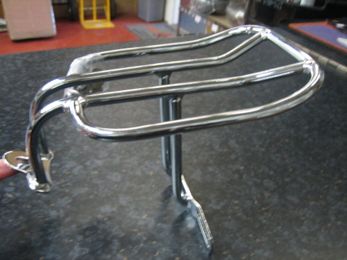 Chrome Luggage Rack 2 up Fits Sportster 94-13 Harley Davidson