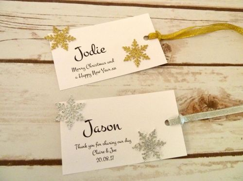 Snowflake tags/placecards